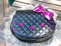 Cheap Hello Kitty Purse, find Hello Kitty Purse deals on line at ... & Get Quotations · Hello Kitty Black Quilted Purse Pink Bo Adamdwight.com