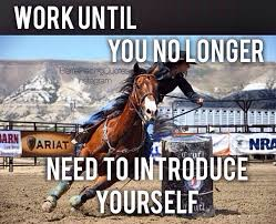 Barrel Racing Quotes Cool Work Until You No Longer Need To Introduce Yourself Country