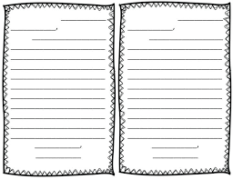 Primary Letter Writing Paper Printable Letter Writing Paper For First Grade Free