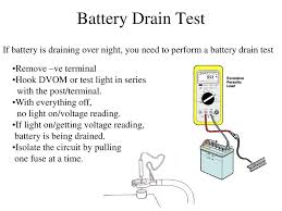 How To Test For Battery Drain With A Test Light Battery Ppt Download
