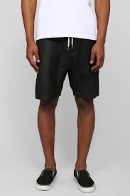 black leather shorts zanerobe gabe leather short