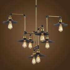 industrial lighting fixture.  Fixture Industrial Style 8 Light Large LED Pendant Chandelier Commercial Coffee Bar Lighting  Fixture  Inside