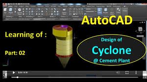 Cement Cyclone Design Autocad Tutorial Design Of Cyclone Part 02 For Cement Plant