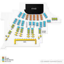 City Winery Seating Chart City Winery Washington Dc Tickets