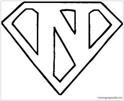You may use this photograph for backgrounds on personal computer with best quality. Superman Logo Letter N Coloring Pages Alphabet Coloring Pages Free Printable Coloring Pages Online