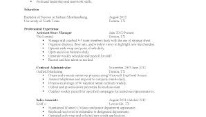 Resume Skills Examples Customer Service Section High School