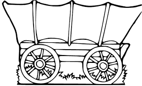 black and white covered wagon. pioneer covered wagon clipart black and white