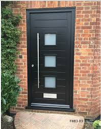 modern black front doors. Perfect Front Contemporary Door 3 Panes Intended Modern Black Front Doors