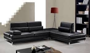 modern black leather sofa. Modren Leather Modern Black Sofas With Regard To Contemporary Leather Image  12 Of 20 For Sofa