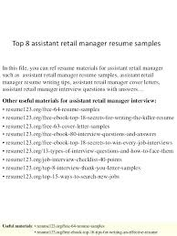 Objective For Retail Resume Resume Objective Retail 50