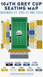 Bmo Field Detailed Seating Chart Here Is A Map With Ticket Prices For The Grey Cup Which
