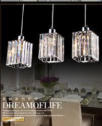 crystal pendant lighting. Free Shipping Kitchen Bar Pendant Light Dining Room 3 Lights Restaurant Modern Crystal Lamps Hanging Lighting