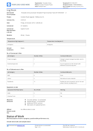 Delivery Book Template Construction Log Book Use This Construction Log Book Sample