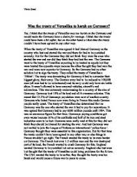 to what extent was the treaty of versailles fair to teacher marked was the treaty of versailles too harsh on