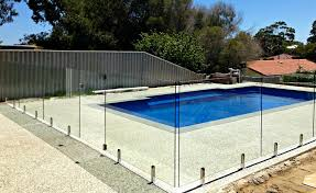 pool fence installation how much do you need to pay stair glass barade first level frameless fencing