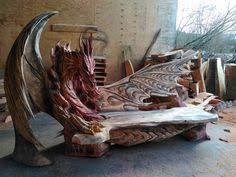 dragon shaped bed frame. Beautiful Shaped Dragon Bench Carved With A Chainsaw By German Artist Igor Loskutow With Shaped Bed Frame O