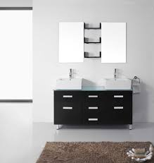 White Bathroom Vanity Cabinet Maybell 56 Double Bathroom Vanity Cabinet Set Virtu Usa