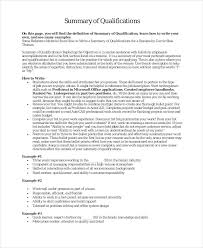9 Career Summary Examples Pdf Examples