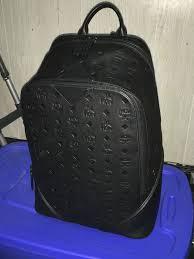 mcm ottomar monogram leather backpack