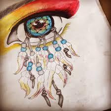 Unusual Dream Catchers A level art Water colour Pencil Tonal Sketch Dream catcher Eye 14