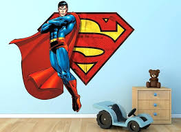 superman flying with s shield wall decal batman vs stickers v rip superman wall decals