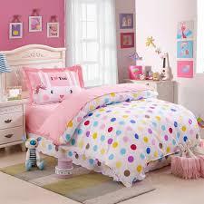 kids colorful polka dot cute comforter bedding sets twin size 100