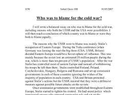 who was to blame for the cold war a level history marked by document image preview