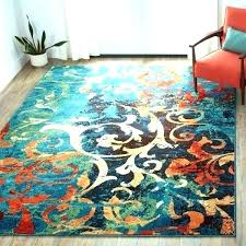turquoise and orange area rug teal blue are