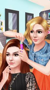 hair color styling salon celebrity beauty studio hollywood makeover game screenshot 4