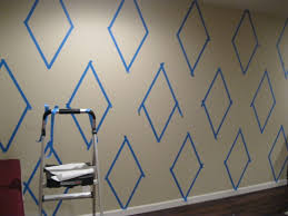 Paint Patterns Adorable Paint Diamond Pattern Your Wall Maison Awesome Wall Painting Design