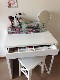 ikea micke as vanity desk dressing table white chic ikea micke desk white