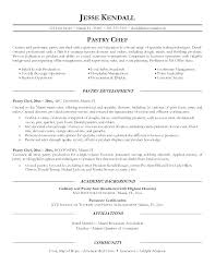 Professional Chef Resume Examples Here Are Sample For Cook Pastry