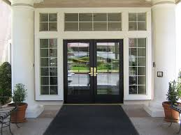 glass and aluminum door options can include