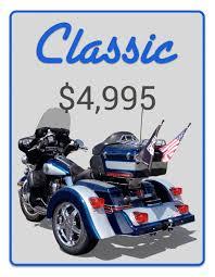 mtc voyager motorcycle trike conversion kit classic voyager trike kit price card