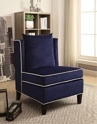 blue velvet accent chair. Blue Velvet Accent Chair /