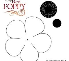 poppy template free printable poppy pictures poppy template fill in with tissue