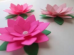 Paper Lotus Flower Amazon Com Set Of 3 Paper Lotus Flowers Shades Of Pink