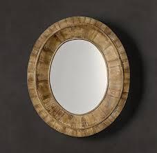 restoration hardware pieced oval mirror decor look alikes