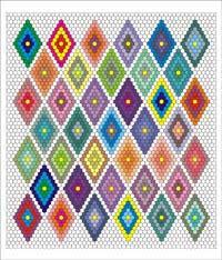 English Paper Piecing Diamond Triple Ring Quilt Pattern from ... & English Paper Piecing Diamond Triple Ring Quilt Pattern Adamdwight.com