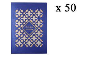 Vivah Card Design Mangalya Designer Wedding Invitation Card Pack Of 50 Blue