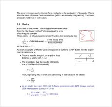 Sample Monte Carlo Simulation Template 11 Free Documents
