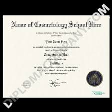 com Diplomacompany Fake Cosmetology Certificate