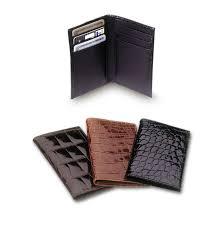 leather wallet mens alligator wallet
