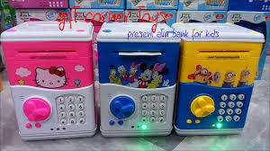 coin box for kids. Perfect Box MINI ATM MACHINE COIN BOX FOR KIDS HELLO KITTY MIKEY MOUSE MINIONS Inside Coin Box For Kids