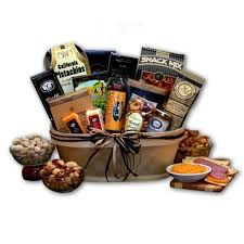 gourmet nut and sausage gift basket today overstock 10736819