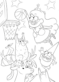 Gravity Falls Coloring Pages New Super Cool Graviry Youloveit Com