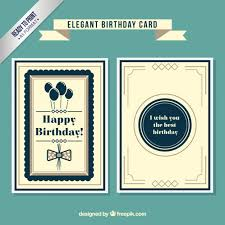 Elegant Birthday Card Vector Free Download