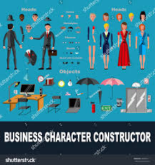 Design Your Character Business Character Vector Illustration You Can Stock Vector