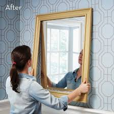 custom diy mirror frame with moulding