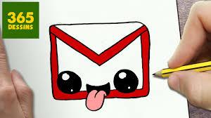 Comment Dessiner Logo Gmail Kawaii Tape Par Tape Dessins